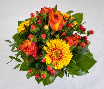 Strauß in orange und gelb Tönen